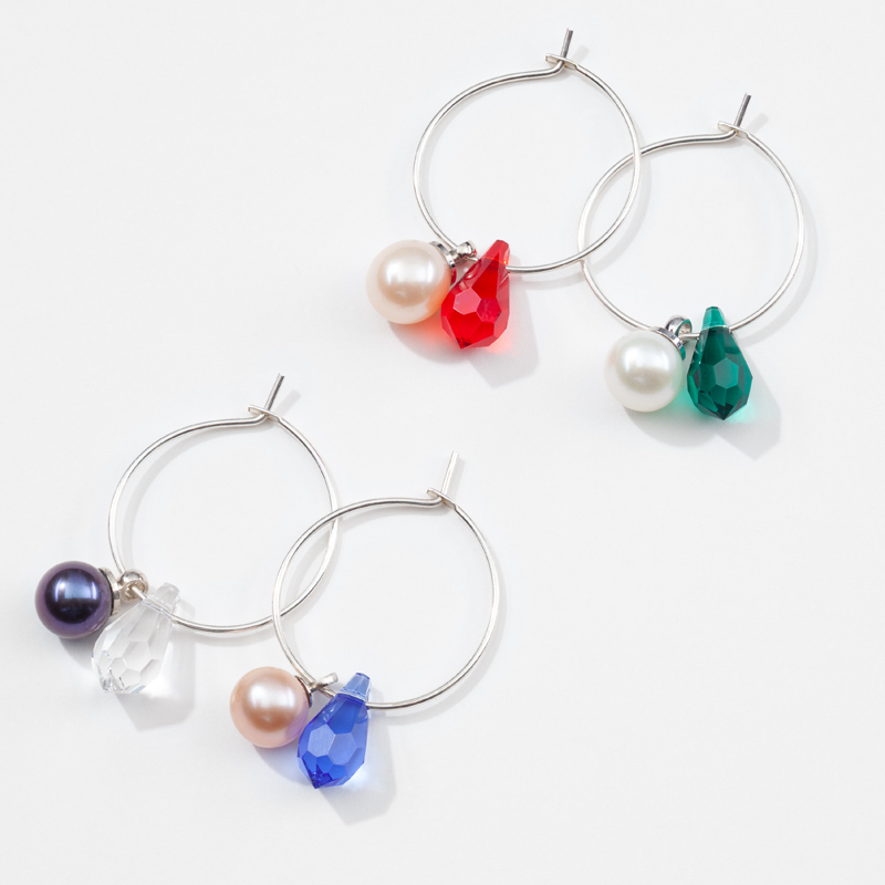 Holiday Lights Set Wine Charms