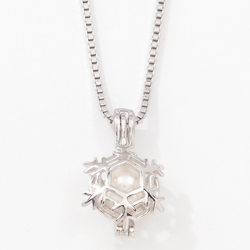 Snowflake Cage Necklace
